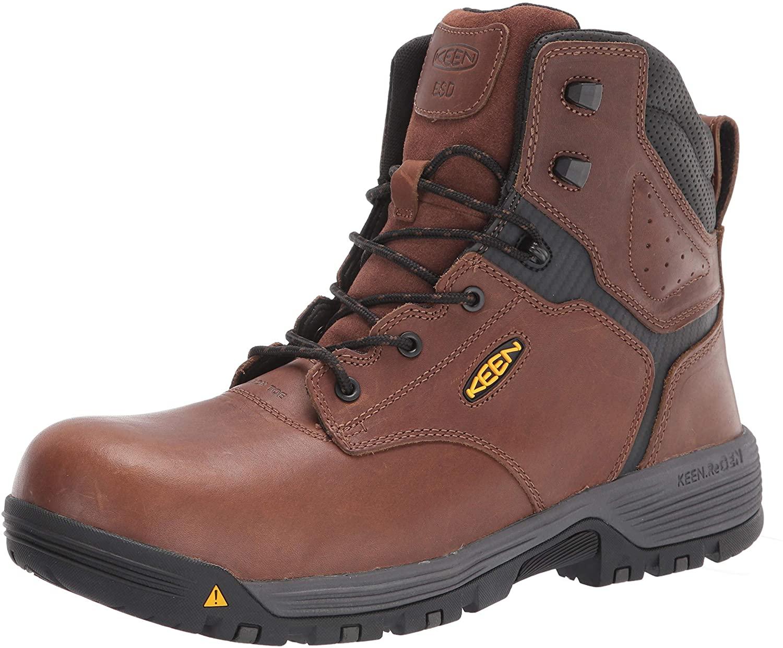 "KEEN Utility Men's Chicago 6"" Composite Toe ESD Work Boot Construction"