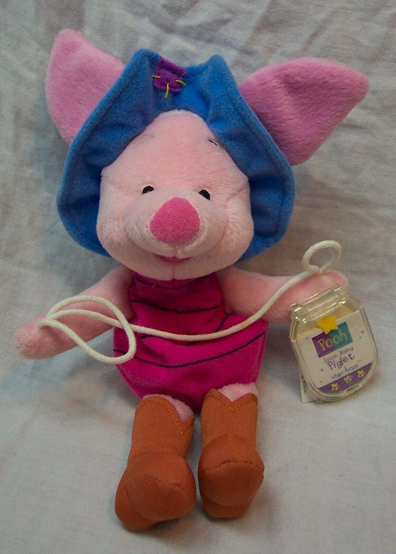 Disney Winnie the Pooh Lasso Roping Piglet Star Bean Plush