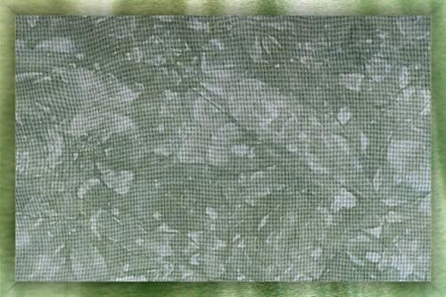 Hand-Dyed 22 Count Fine Ariosa Hardanger Fabric - Extra Large Cut - Peas in A Pod, Green
