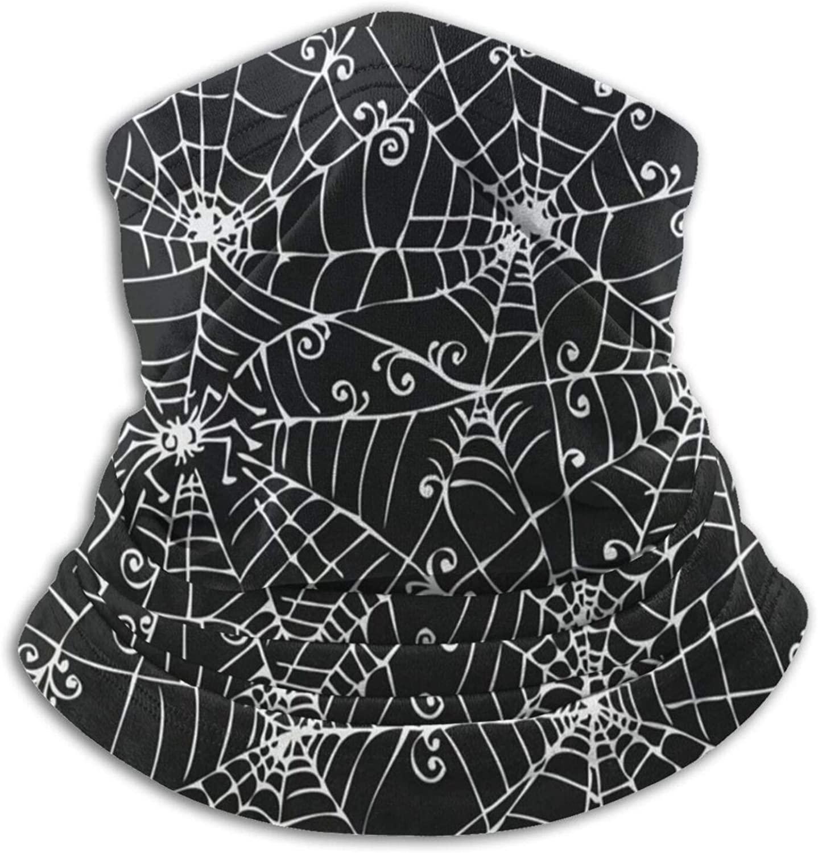Neck Gaiter Face Mask Vintage Happy Halloween Spooky Spider Web Neck Warmer Ski Masks Scarf Women Men Snowboard