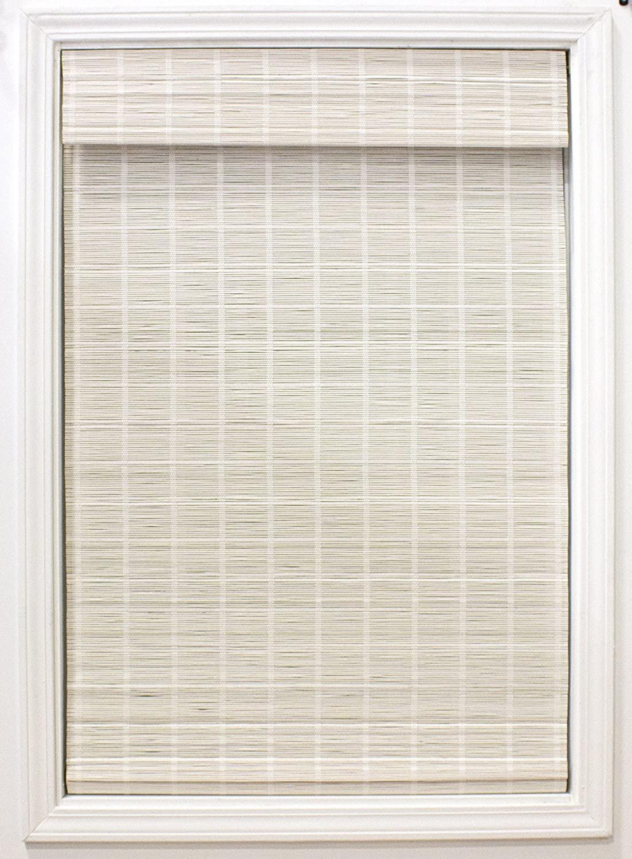 Radiance White Bayshore Matchstick Shade-34 Bamboo Blinds, Roman, Cordless Shades, 34