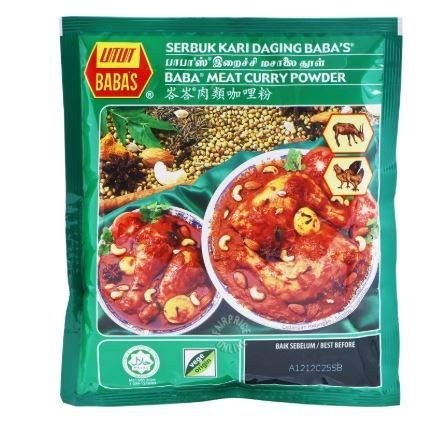 NT# Baba's Packet Curry Powder - Meat 250g -This powder is use for rich curry taste or marinades for chicken and meats