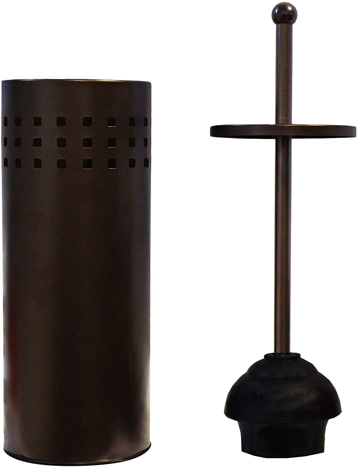 Blue Donuts Toilet Plunger with Holder for Bathroom, Multi Drain Suitable Also for Bathtubs, Quick Dry (Bronze)