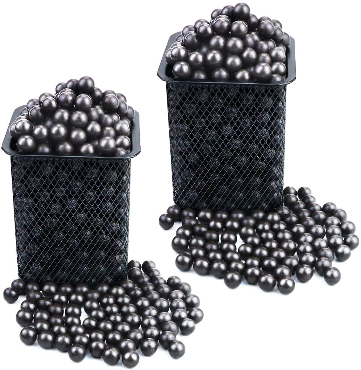 Weoxpr 1200 Pieces Biodegradable Slingshot Ammo Balls, 9-10mm Hard Slingshot Clay Ammo, Dark Brown