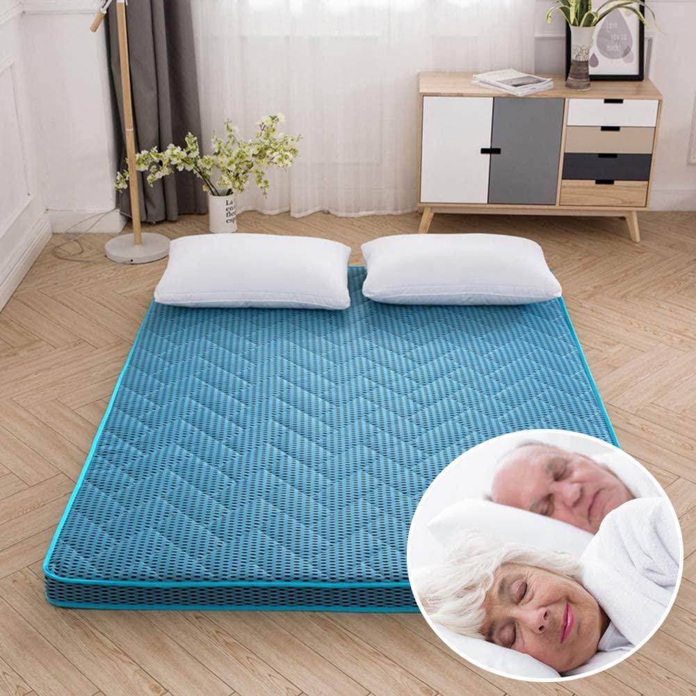 ZXYY Japanese Folding Mattress Soft Anti-Slip, Japanese Floor Mattress Folding Floor mat in Tatami Mattress Portable Camping Mattress Children's Pillow Sofa Bed Cot, Thickness: 6 cm, E, 180x200 c