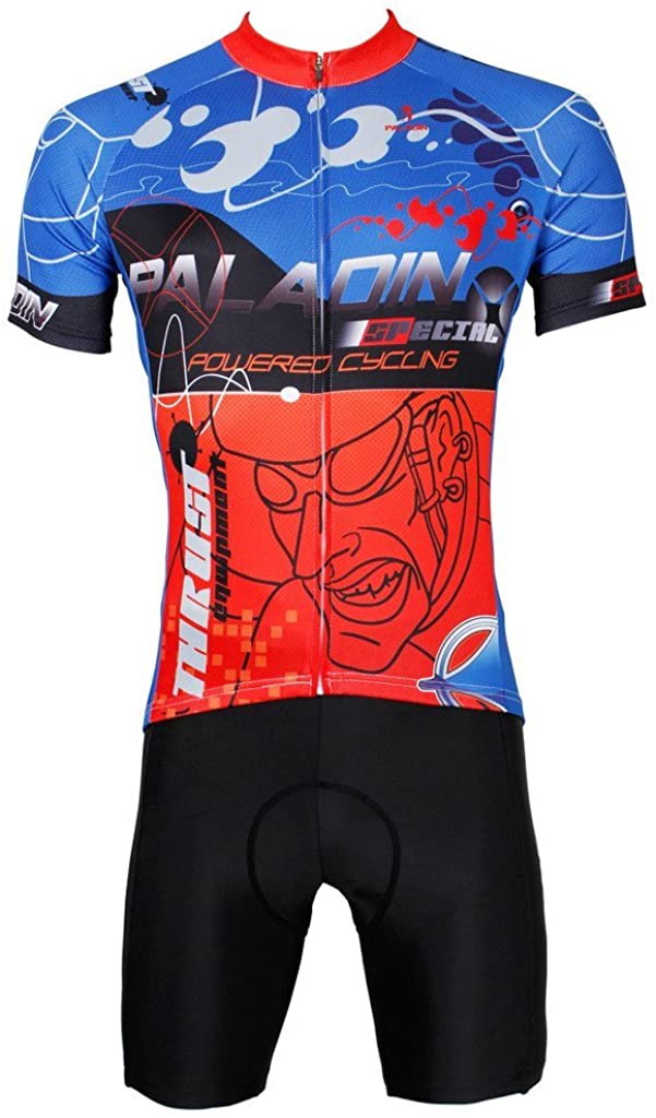 PaladinSport Men's Mountain Bike Clothing and Perspiration Breathable Cycling Set