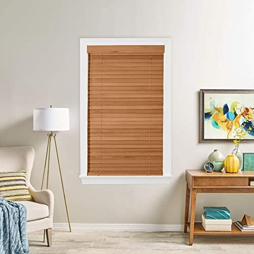 Bravada Simple Selections 2 Inch Wood Blinds 85Wx96L Wheat