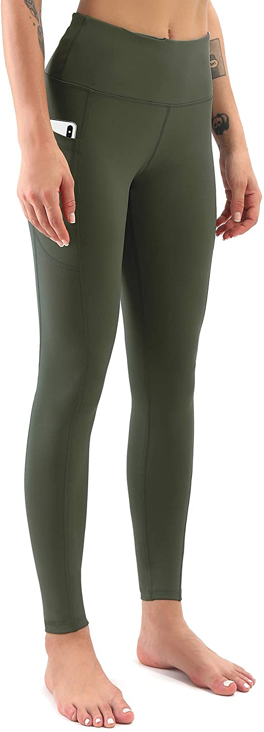Workout Leggings for Women Tummy Control,High Waist Yoga Pants with Pockets Leopard Camo Ankle Tights