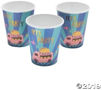 FOOD TRUCK PARTY PAPER CUP - Party Supplies - 10 Pieces