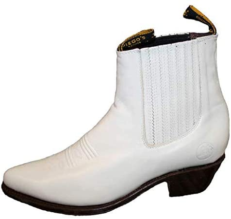Men's Genuine Leather Western Style Cowboy Slip ON Boots