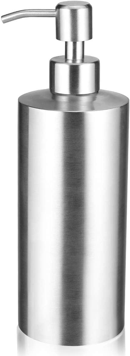 vplus Hand Soap Dispenser Stainless Steel Soap Dispenser Hand Metal Pump Lotion Bottle for Bathroom, Bedroom and Kitchen