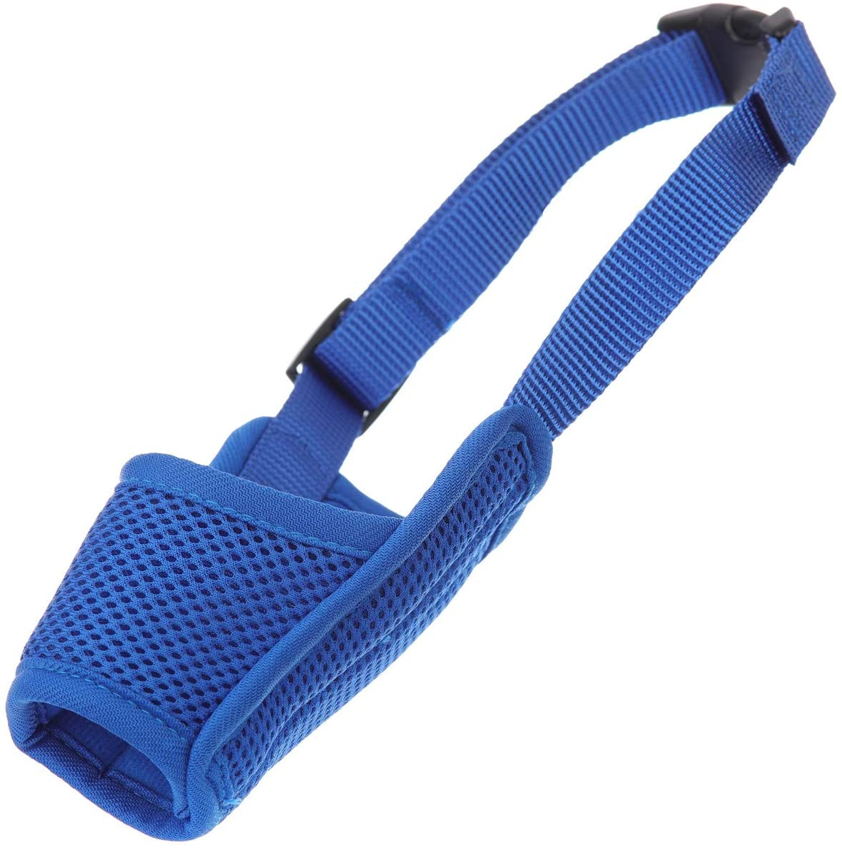 Groom Professional Padded Air Mesh Secure Dog Muzzle Navy Blue - X-Small