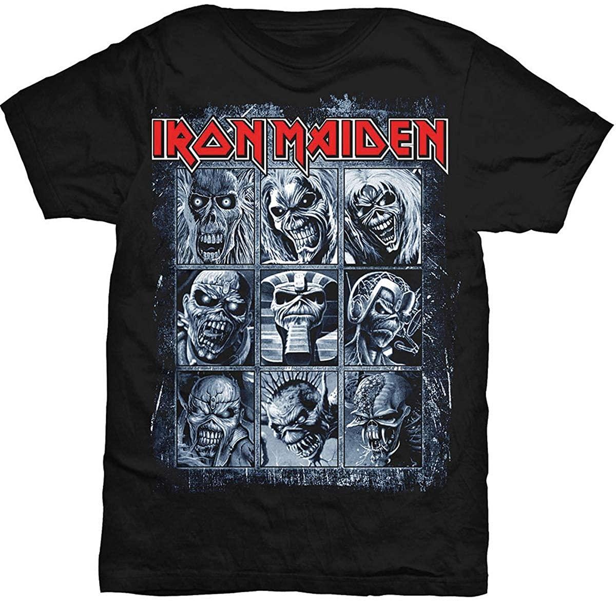 Rockoff Trade Iron Maiden Mens Nine Eddies T-shirt, Black, Large