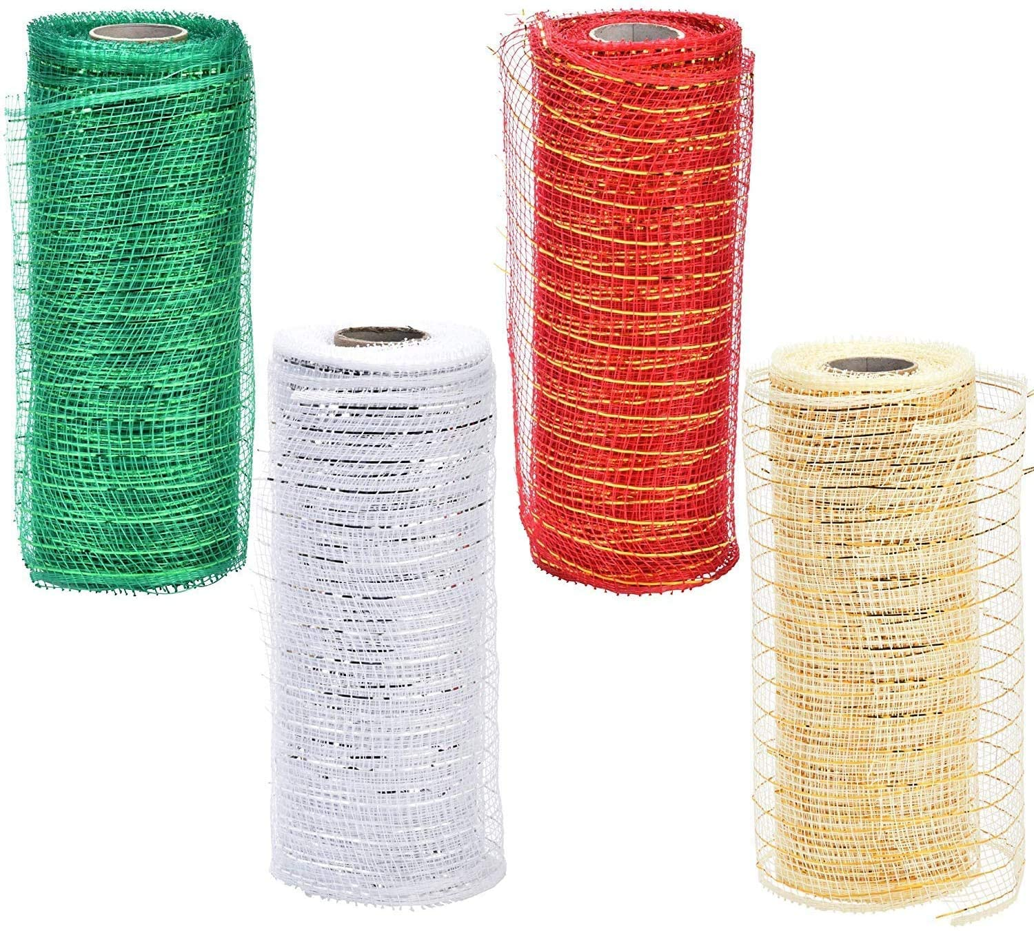 Christmas Mesh Ribbon Rolls Decorative - 6