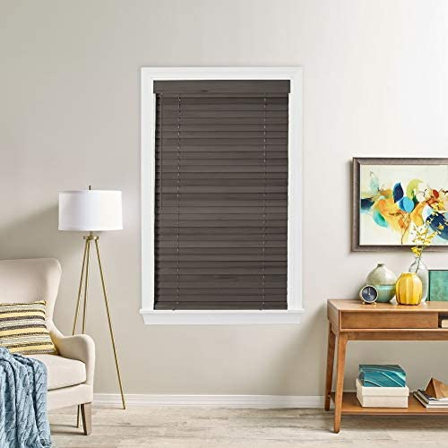 Bravada Simple Selections 2 Inch Wood Blinds 93Wx84L Harbor Grey