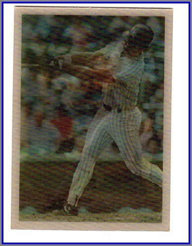 1986 Sportflics #75 Batting Champs Don Mattingly YANKEES Wade Boggs Red Sox Carney Lansford A's Athletics