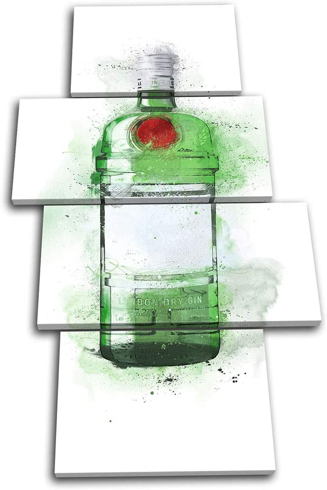 Bold Bloc Design - Bar Cocktail Gin Abstract Food Kitchen 240x135cm Multi Canvas Art Print Box Framed Picture Wall Hanging - Hand Made in The UK - Framed and Ready to Hang 13-9451(00B)-MP04-PO-E