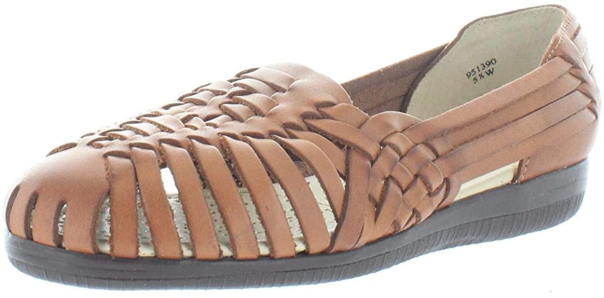 softspots Womens Trinidad Leather Woven Huarache Sandals
