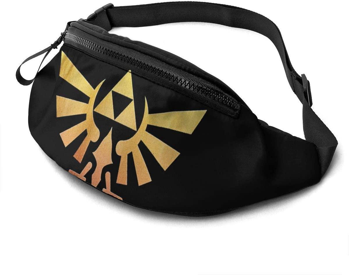 Atsh The Legend of Zelda Casual Waist Bag with Adjustable Jogging Hiking Chest Pack Shoulder Bag