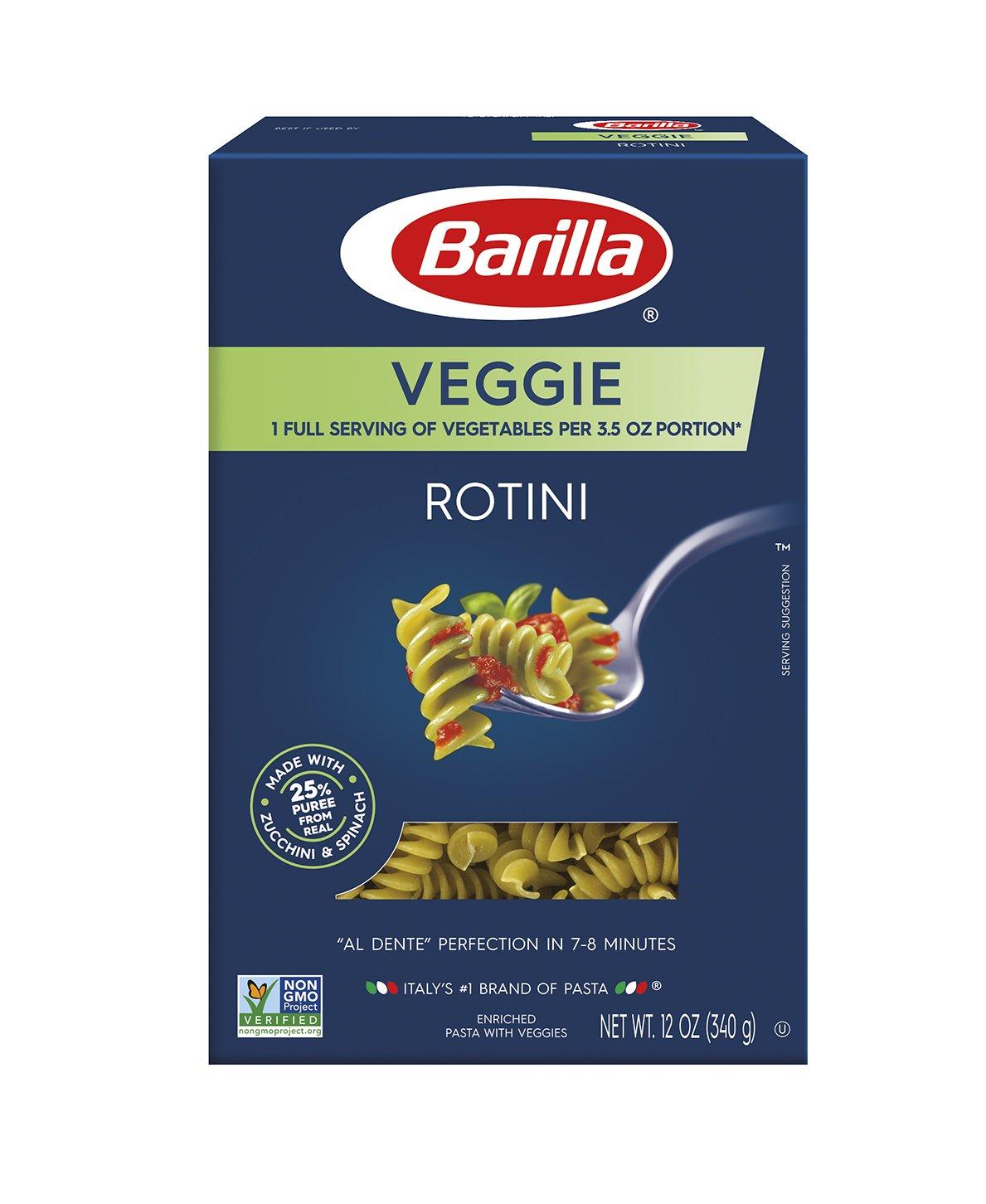 Barilla Pasta, Veggie Rotini, 12 Ounce (Pack of 12)