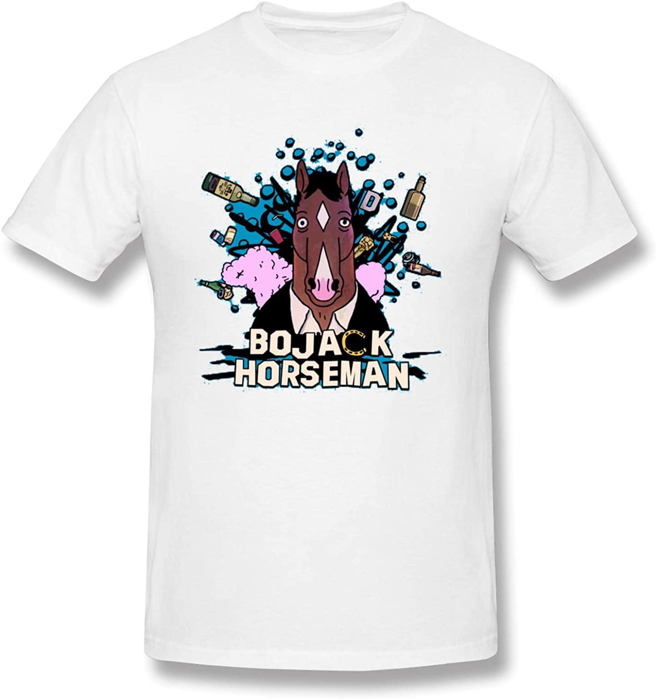 Bo-Jack Horseman Mens Premium Basic Tees Ultra-Soft Short Sleeve Modern Fit T-Shirts