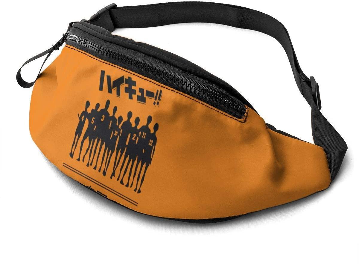 Atsh Haikyuu Casual Waist Bag with Adjustable Jogging Hiking Chest Pack Shoulder Bag