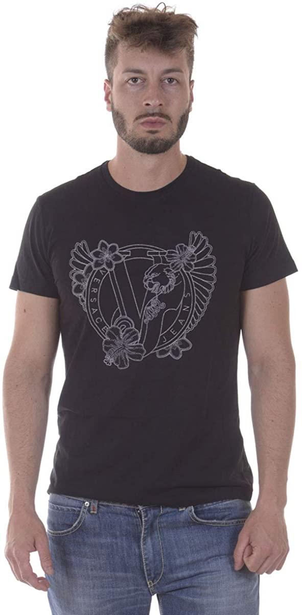 Versace Jeans - Men'S T-Shirt B3GPB774 Black Jersey COT Pluto