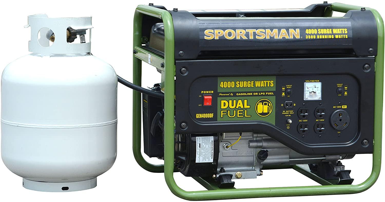 Sportsman GEN4000DFC, 3500 Running Watts/4000 Starting Watts, Dual Fuel Powered Portable Generator