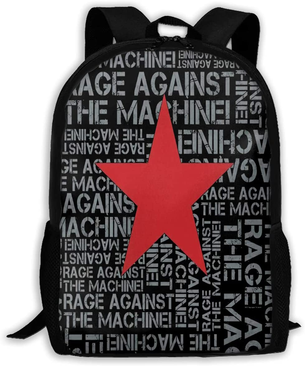 Newte Rage Against The Machine Full-Length Printed Backpack, Suitable for Students Or Travel Backpacks.