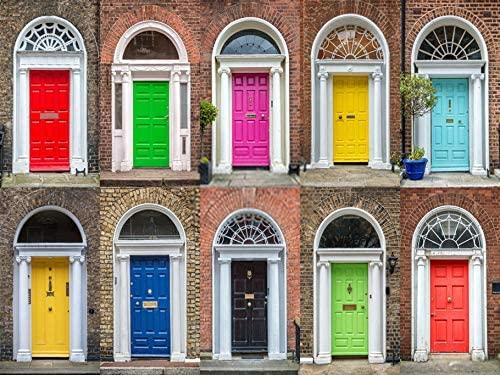 1000 Piece Jigsaw Puzzles Colorful Doors Dublin Ireland Door Georgian Irish Colourful Rainbow 32