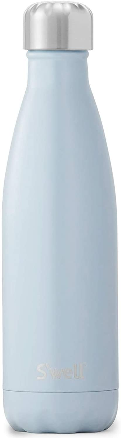 S'well Stainless Steel Water Bottle - 17 Fl Oz - Shadow - Triple-Layered Vacuum-Insulated Containers Keeps Drinks Cold for 41 Hours and Hot for 18 - with No Condensation - BPA Free Water Bottle