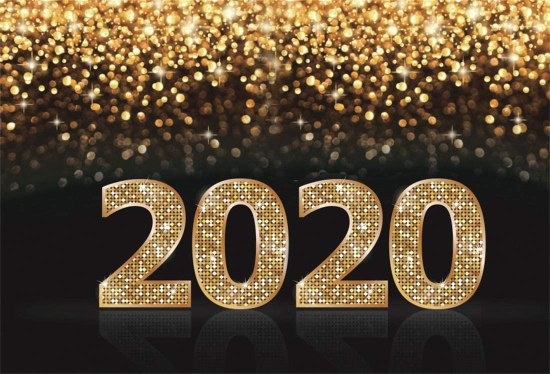 15x10ft Glitter 2020Happy New Year Photography Backdrop Shining Sequins Merry Christmas Bokeh Photo Background Video Drapes Wallpaper Photo Studio Props