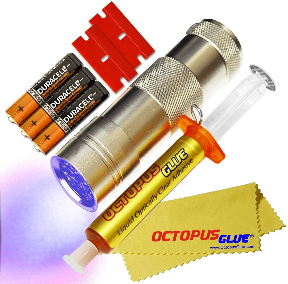 Octopus Glue - Liquid Optically Clear Adhesive (LOCA) - The Original Premium LOCA UV Glue (3 ml w/UV LED Flashlight)