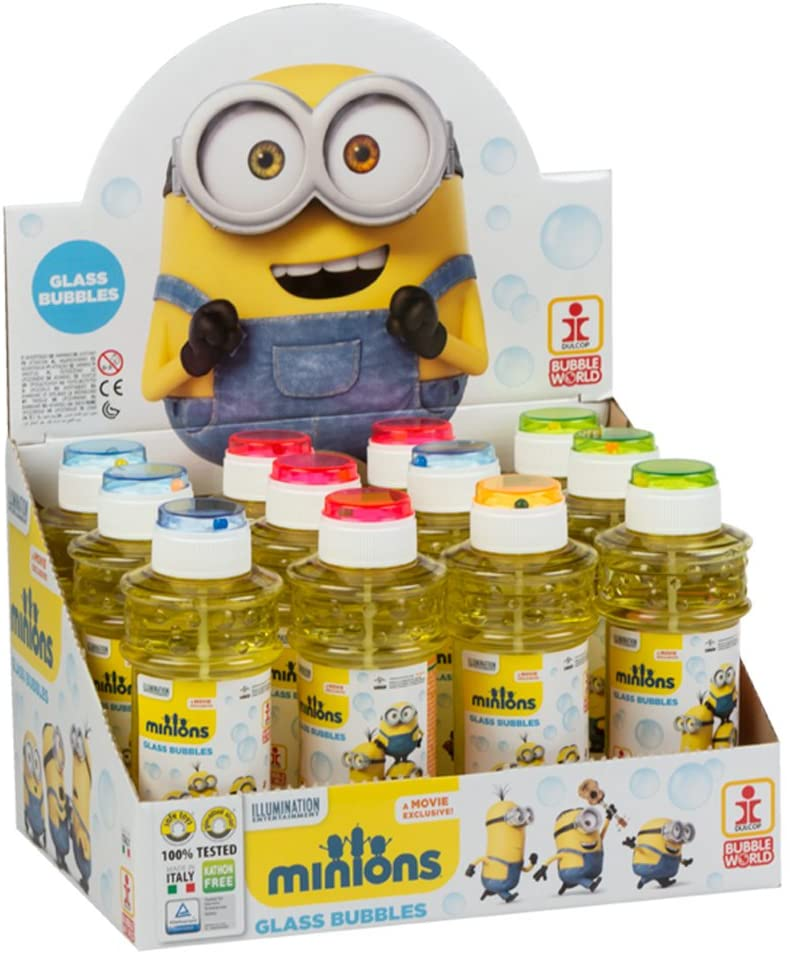 COLORBABY–pomperos Box with 12Pack 300ml Minions 12 unidades
