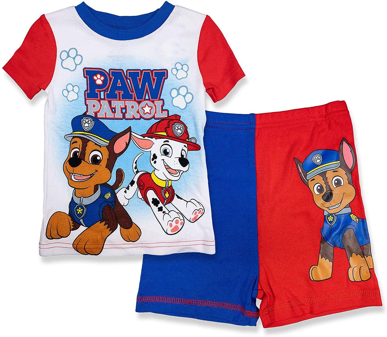 Paw Patrol 2 Piece Pajama Set,Red,100% Cotton,Toddler Boy's Size 2T to 5T