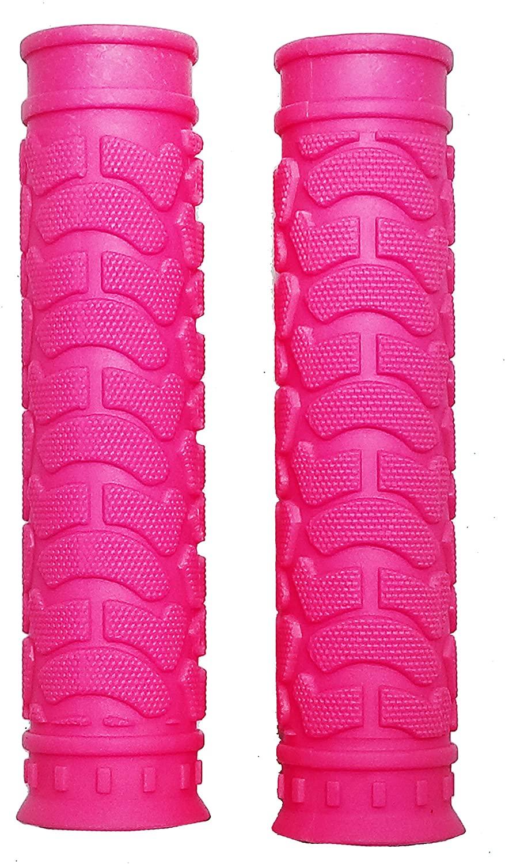 Fito Rubber Handlebar Grips - Pink, for Beach Cruiser Bike, Fixie Fixed Gear Bike, Road Bikes, BMX Bikes, Mountain Bicycles Handle bar.