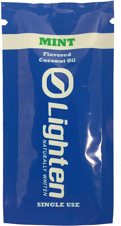 Lighten Naturally Whiten 100% Organic Mint Coconut Oil Teeth Whitening 5 Day Sample Pack