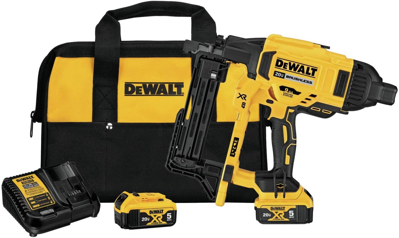DEWALT DCFS950P2 20V MAX XR 9 GA Cordless Fencing Stapler Kit