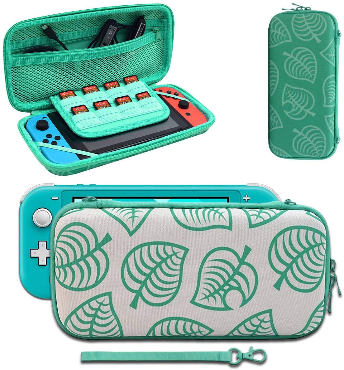 Carrying Case Compatible with Nintendo Switch, [for Animal New Horizons Edition] New Leaf Crossing Design, Portable Travel Carry Case Bag for Nintendo Switch