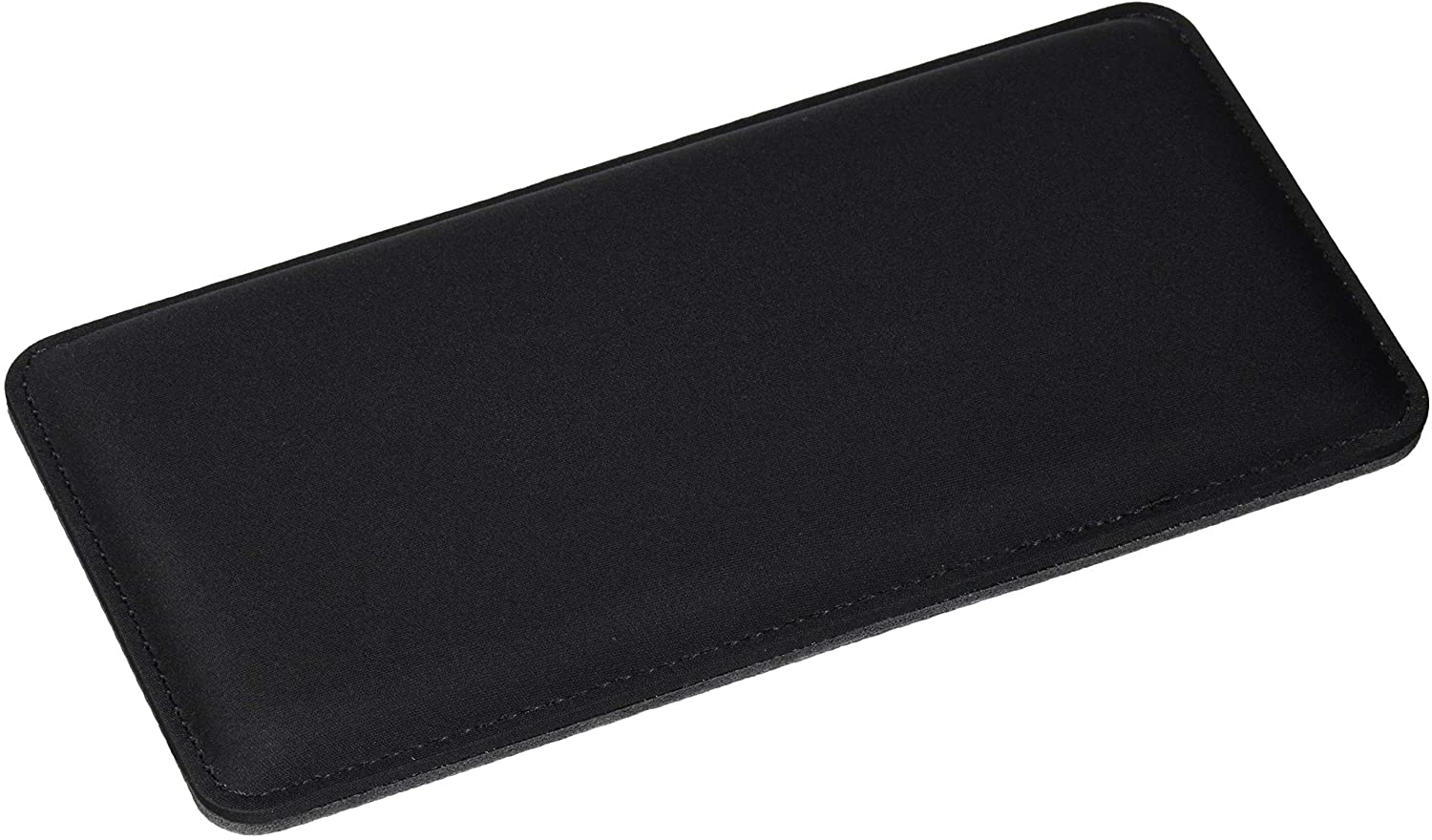 """The Gamer Plug - Gaming Mouse Wrist Rest Pad - Black - Stitched Edges - Memory Foam - 8"""" x 4"""" x 0.5"""" (Mouse, Slim)"""