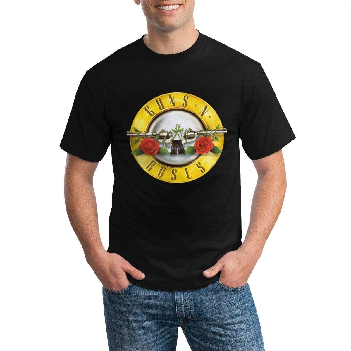 Bravado- Men's Guns N' Roses Classic Bullet Logo Round Neck T-Shirt