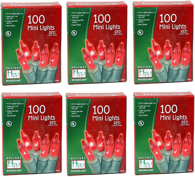 Noma/Inliten Holiday Wonderlands 100-Count Red Light Set (Pack of 6)