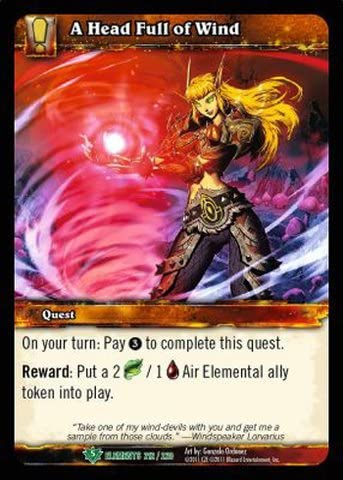 World of Warcraft TCG - A Head Full of Wind (212) - War of the Elements