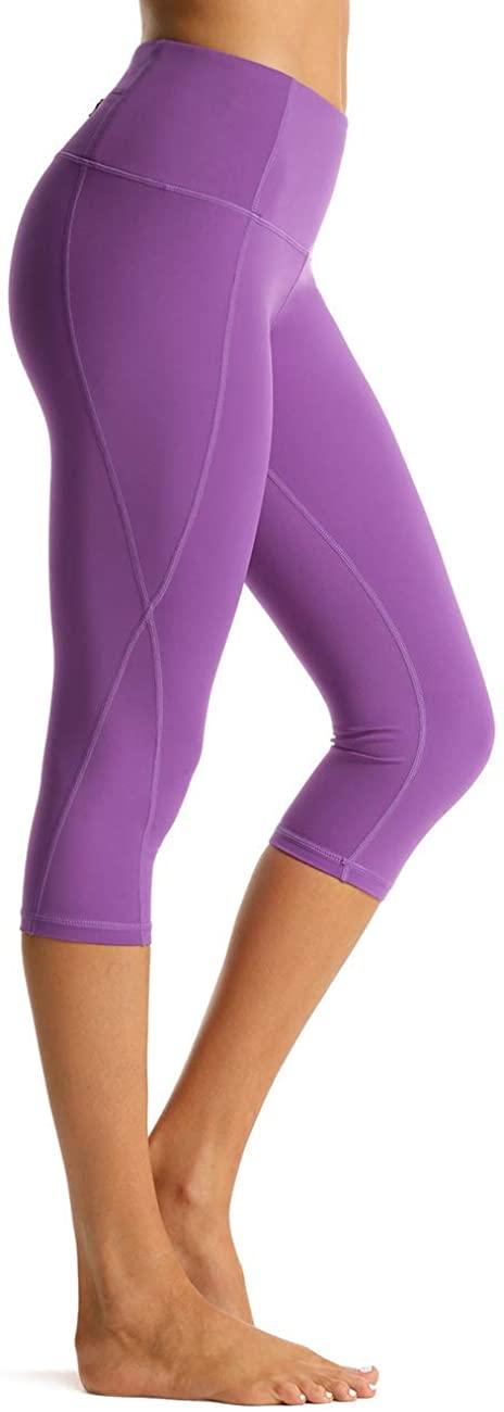 Rocorose Women's Yoga Pants High Waist 4 Way Stretch Pockets Workout Running Fitness Leggings