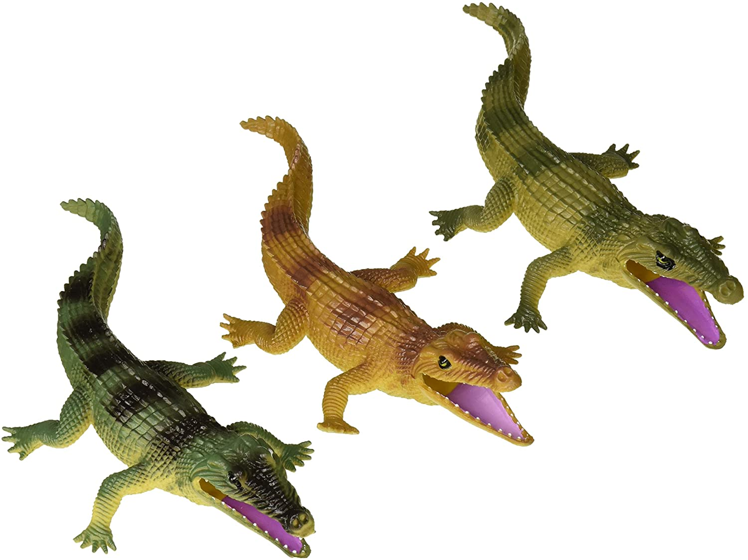 Wild Republic Crocodile Toys, Kids Gifts, Crocodile Party, Australian Toys, Croc Figure, Polybag, 6Piece, Green