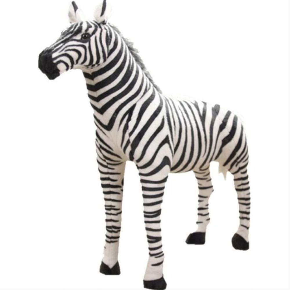 YUNZHI Plush Toys, Standing Zebra Stuffed Animals Plush Toy Toys Simulation Photography Props Christmas Birthday Gifts 35cm