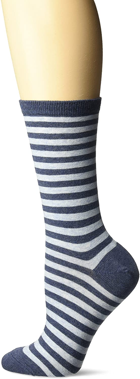 Hot Sox Womens Originals Thin Stripe Crew Sock