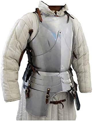 15th Century Soldier Half Armour Historical Halloween Costume Silver