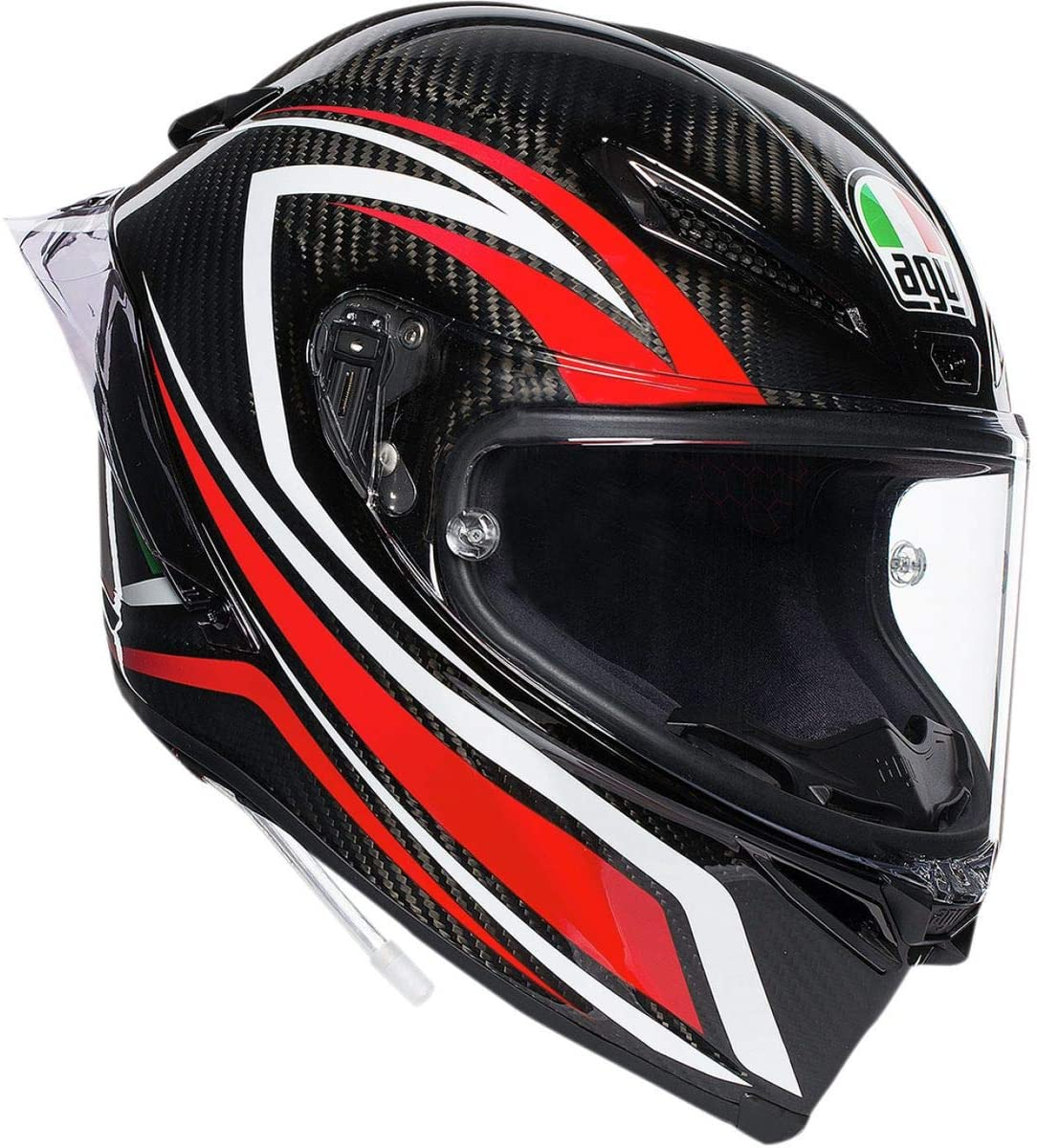 AGV Pista GP R Multi Helmet, Carbon Fiber/Red, Size: ML