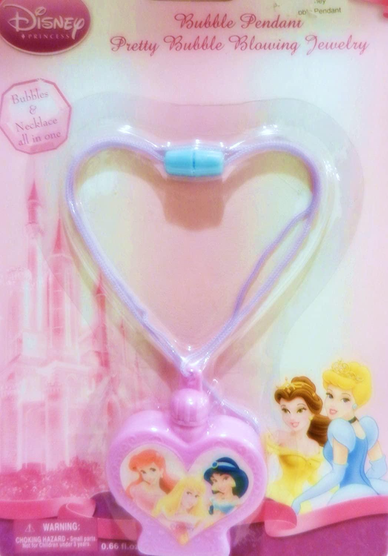 DISNEY Princess Necklace w/ Bubble Blowing Pendant Jewelry